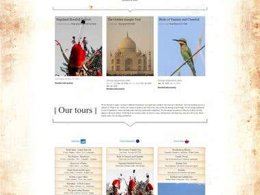 Tours and travels website