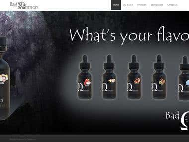 Attractive website to display e-cigarette flavored liquids