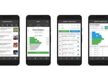 Sportsdaq app design