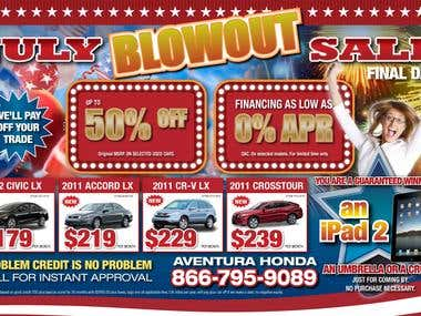 July Blowout Sale
