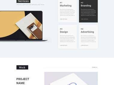 Creative Wordpress Website