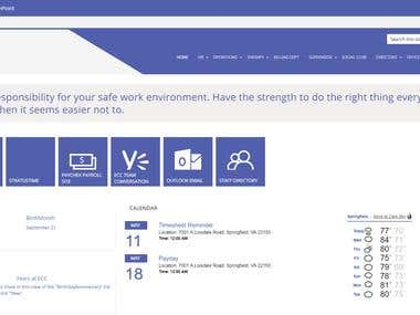 Intranet Portal - Sharepoint 2013 - Custom Master