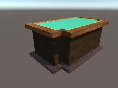 Modelo 3d mesa de oficina antigua
