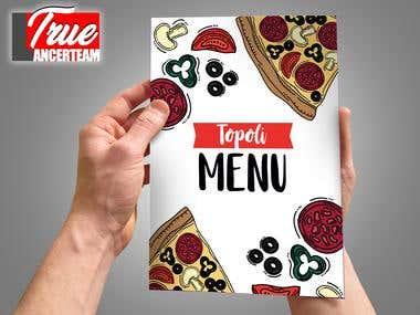 creative design for fastfood menu