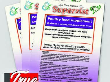 probiotyk company flyer design
