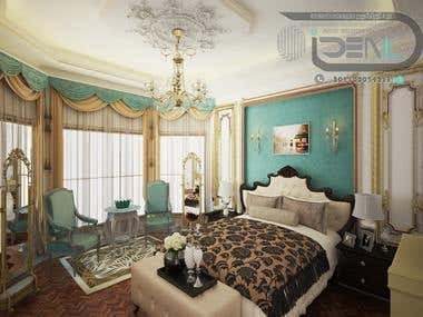 Classic Master Bed Room Of Villa Khattab