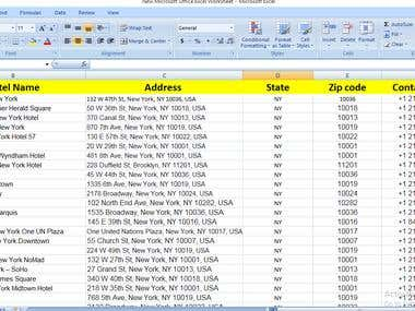 Lead Generation New York Hotel List Collection