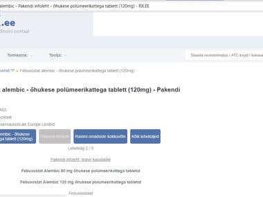 Medical manual translation from English to Estonian