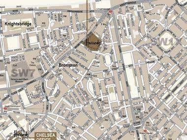Harrods map