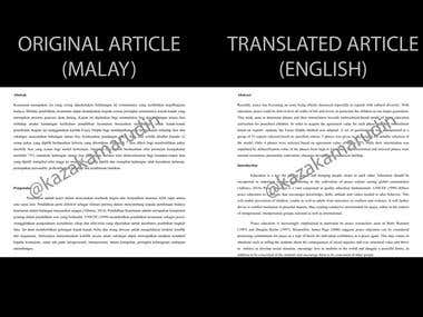 Academic Research Paper - Translation