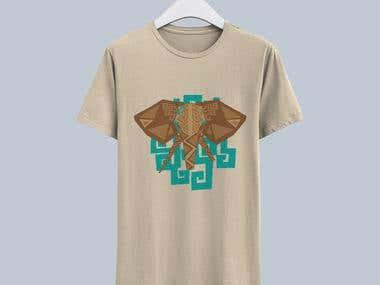 Tribal Elephant T-Shirt Design