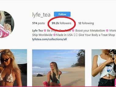 Increase follower