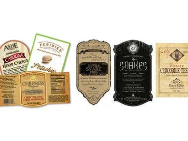labels and packaging desgin