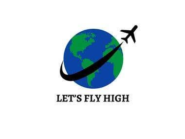 Let's fly high logo