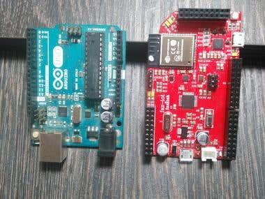 STM32F103 and ESP32 Wroom IOT Development Board