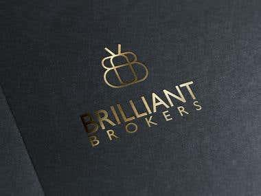 Brilliant Brokers financial company logo design