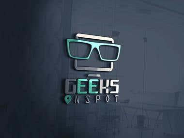 Geeks OnSpot computer repair company Logo design