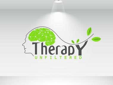 Mental therapy podcast logo design.