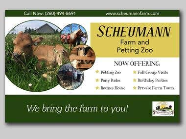 Scheumann Farms Flyer Design