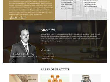 A Lawyer Website (Denha Law)
