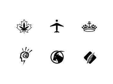 Different logo icons