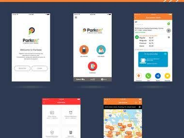 Parkeee - mobile app development