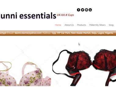 Dunni Essentials Website