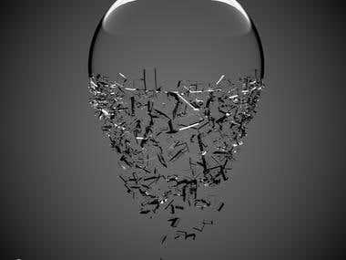 Broken glass ball