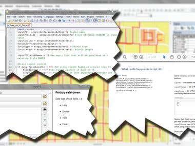 GIS, ArcGIS & ArcPy tutoring