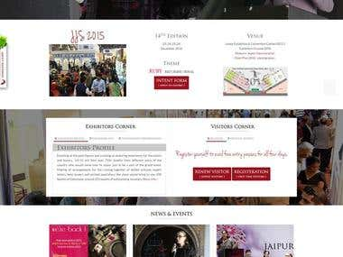 website designed and frentend dev. for jewellery show