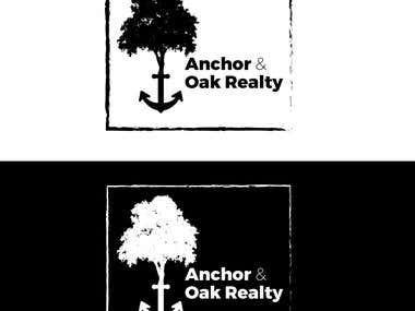 Anchor and Oak-Realty logo Design