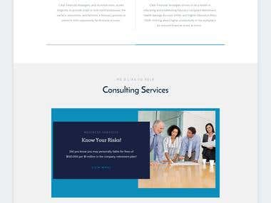 Clear Financial Strategies Website overhaul