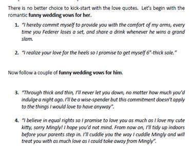 Top 10 Funny Wedding Vows
