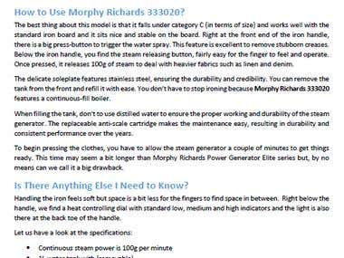 Morphy Richards 333020 Review