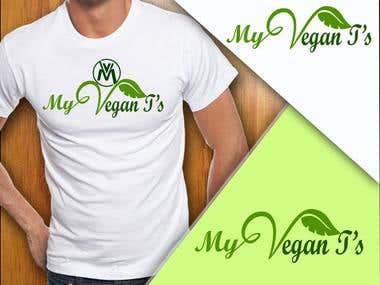My Vegan T's Mock up
