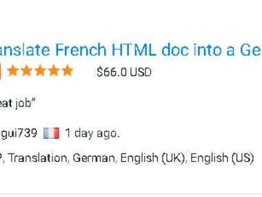 French To German Translation