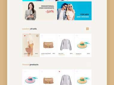 Online store page design