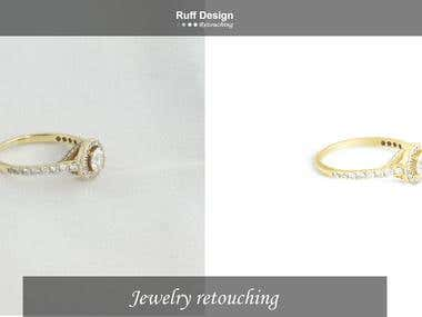 Professional jewelry retouching