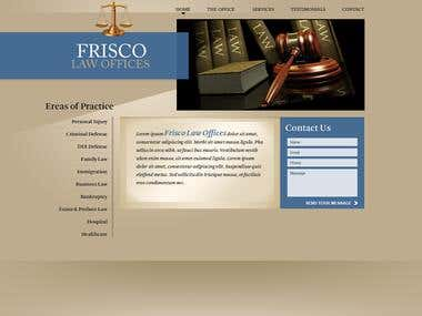 Website Frisco Law Offices