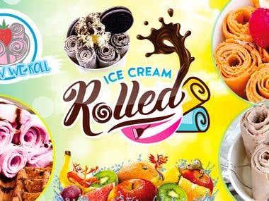 light board of Ice cream Shop