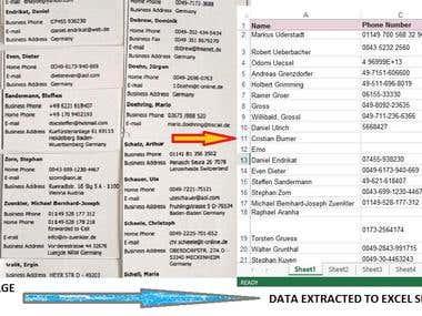 Data Extraction/Organization