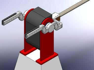 SolidWorks Barrier Arm 01