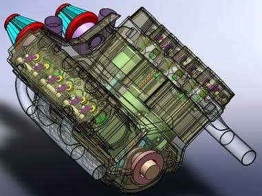 SolidWorks Engine Assembly 03