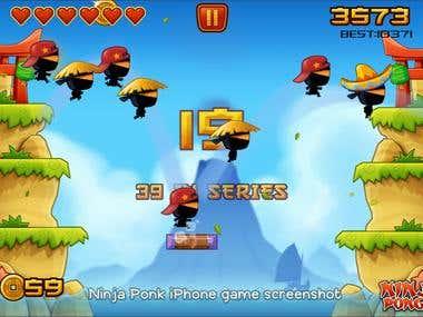 Ninja Ponk - iOS game