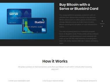 Buy Bitcoin with Serve or Bluebird Card