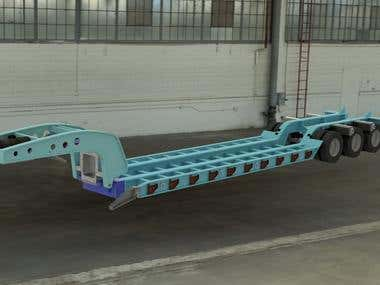 RC-Model of a Flat bed Transporter Trailer
