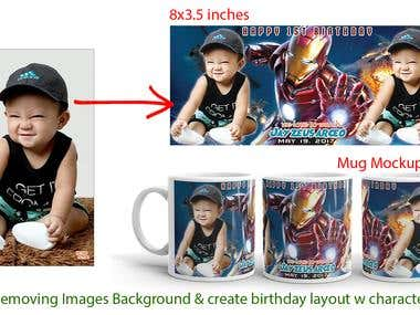 REMOVE BACKGROUND & DESIGN MUG LAYOUT - PHOTOSHOP