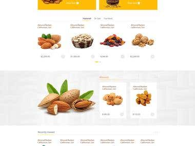 Dry-food eCommerce site
