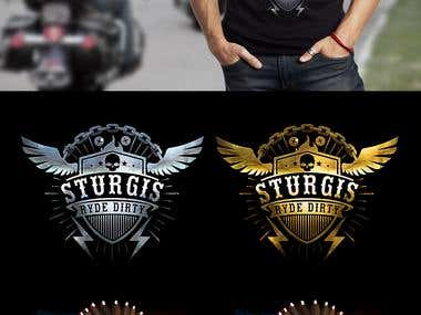 "T-Shirt and Logo design for ""Sturgis Motorcycle Rally""."