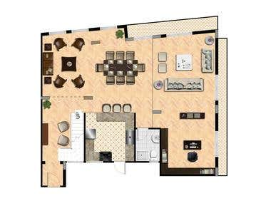 Duplex apartment plan design